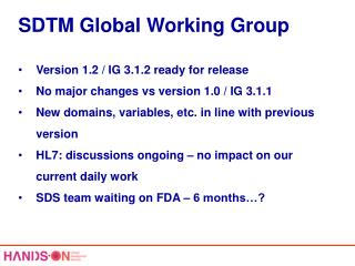 SDTM Global Working Group