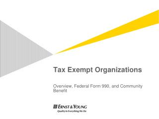 Tax Exempt Organizations