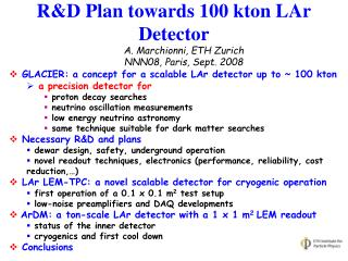 R &D Plan towards 100 kton LAr Detector