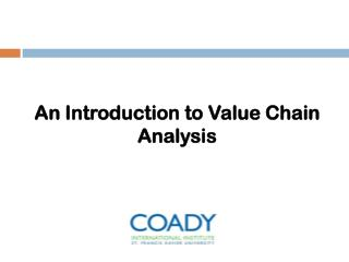 An Introduction to Value Chain Analysis