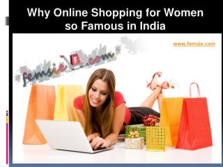 Why Online Shopping for Women so Famous in India