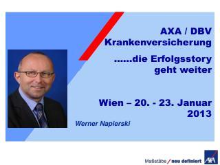 03.03.2009 Ralf Hünten Vertriebstrainer der AXA Krankenversicherung GmbH