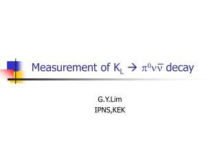 Measurement of K L   p 0 nn  decay