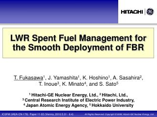 LWR Spent Fuel Management for the Smooth Deployment of FBR