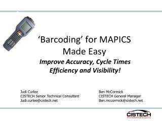 Barcoding  for MAPICS Made Easy