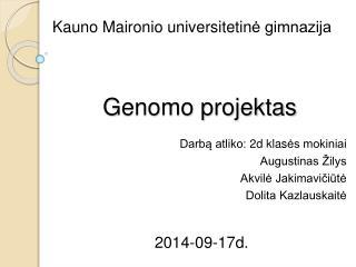 Genomo projektas