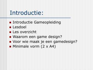 Introductie:
