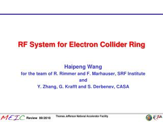 RF System for Electron Collider Ring