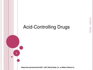 Acid-Controlling Drugs