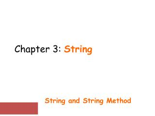 Chapter  3:  String