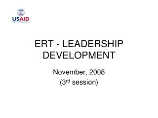 ERT - LEADERSHIP DEVELOPMENT