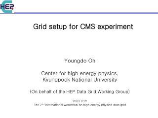 Grid setup for CMS experiment