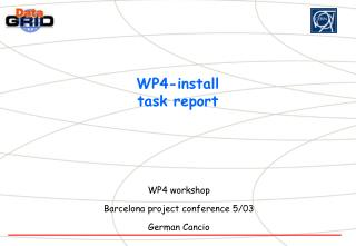 WP4-install task report