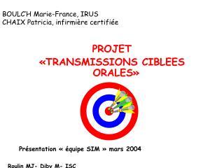 BOULC H Marie-France, IRUS CHAIX Patricia, infirmi re certifi e
