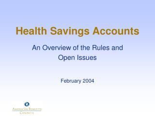 Health Savings Accounts