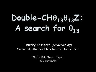 Double-CH  13  13 Z: A search for  13