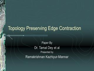 Topology Preserving Edge Contraction