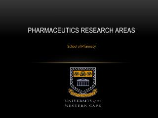 Pharmaceutics Research Areas
