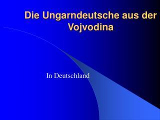Die Ungarndeutsche aus der Vojvodina