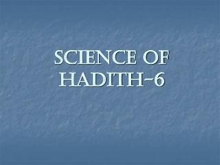 Science of Hadith-6