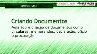 Criando Documentos