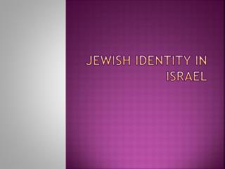 Jewish identity in Israel