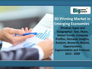 3D Printing Market in Emerging Economies Forecast 2020