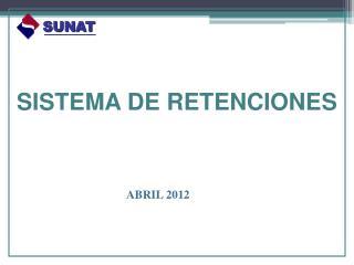 SISTEMA  DE RETENCIONES