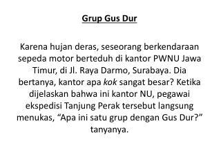 Grup Gus Dur