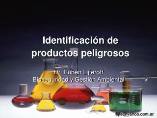 Identificación de productos peligrosos
