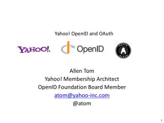 Yahoo! OpenID and OAuth