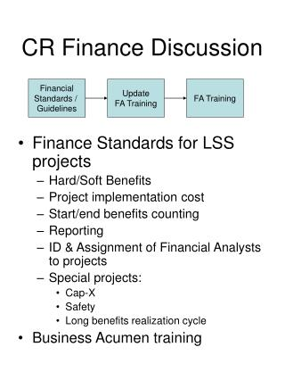 CR Finance Discussion