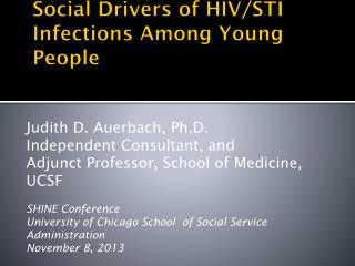 Social Drivers of HIV/STI Infections Among Young People