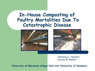 In-House Composting of   Poultry Mortalities Due To Catastrophic Disease