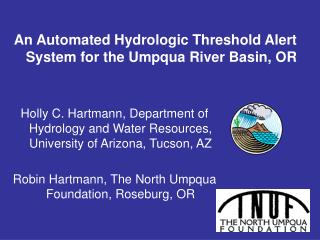 An Automated Hydrologic Threshold Alert System for the Umpqua River Basin, OR
