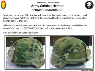 "OPERATIONS COMPANY, DHHB Army Combat Helmet ""PUNISHER STANDARD"""