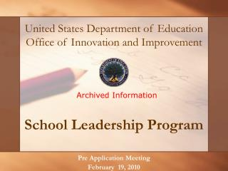 School Leadership Program