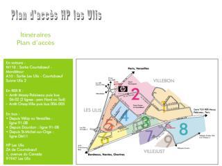 Plan d'accès HP les Ulis