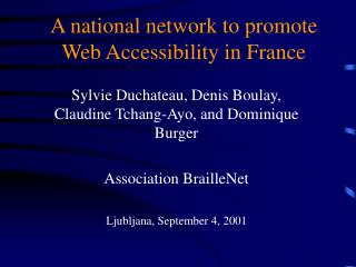 A national network to promote Web Accessibility in France