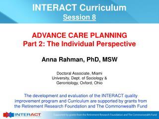 Anna Rahman, PhD, MSW
