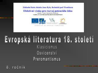 Evropsk  literatura 18. stolet