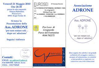 Pro Loco  di  Grognardo Parco del Fontanino 0144 762272