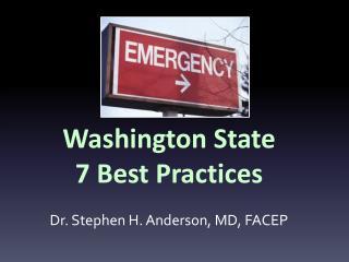 Washington State  7  Best Practices