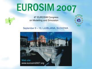 September 9 – 13, LJUBLJANA, SLOVENIA