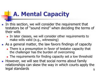 A. Mental Capacity