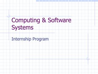 Computing  Software Systems