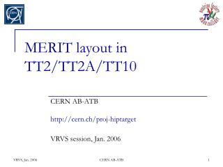 MERIT layout in TT2/TT2A/TT10