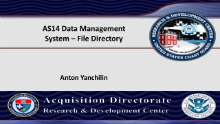AS14 Data  Management  System – File Directory Anton Yanchilin