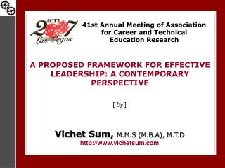 41st Annual Meeting of Association for Career and Technical  Education Research