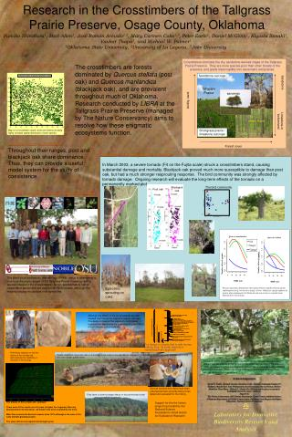 Research in the Crosstimbers of the Tallgrass Prairie Preserve, Osage County, Oklahoma